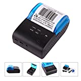 EDAL Bluetooth Receipt Printer Mini Wireless Printer Thermal Receipt Printer Compatible for iPhone iOS and Android Systems TERMINALS POS Machine Boiler Thermal Printer 58mm ZJ-5805DD