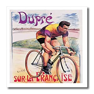 ht_149749_3 BLN Vintage Bicycle Advertising Posters - Vintage Dupre Sur La Francaise Bicycles Advertising Poster - Iron on Heat Transfers - 10x10 Iron on Heat Transfer for White Material