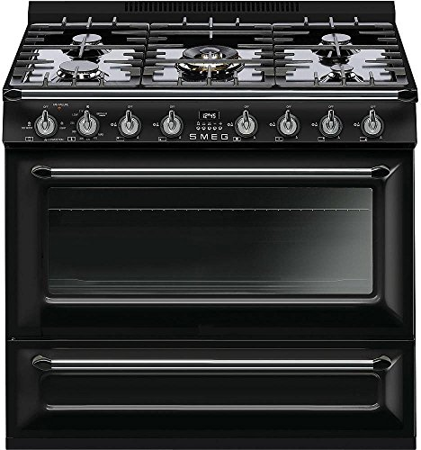 Smeg-36-Victoria-5-Burner-Freestanding-All-Gas-Range-44-Cu-Ft-Primary-Oven-Capacity-8-Cooking-ModesGlossy-Black