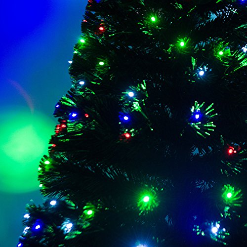 7' Artificial Holiday Fiber Optic / LED Light Up Christmas Tree w/ 8 Light Settings and Stand by HOMCOM (Image #5)
