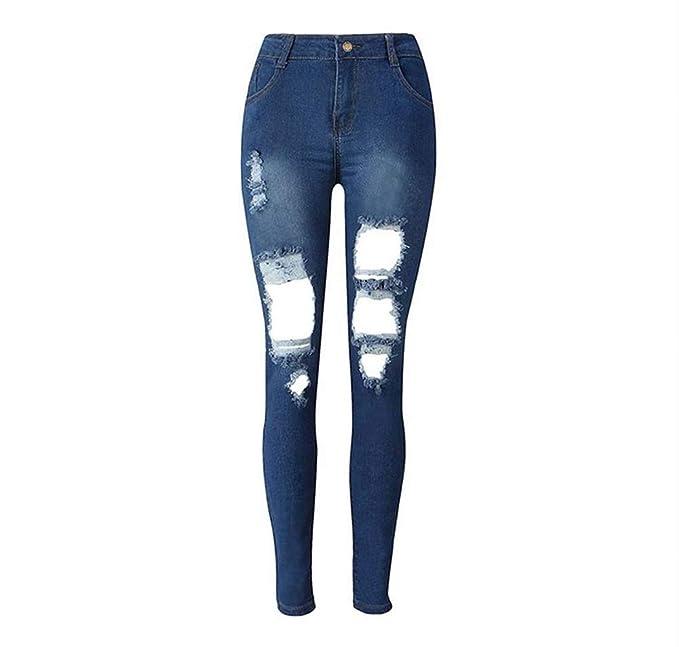 Saoye Fashion Pantalones De Mezclilla Casuales De Los ...