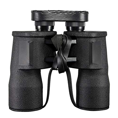 MCCW 10X50 Double Tube high Power HD Telescope Low Light Level Night Vision with Cowhide Box Super Clear, Waterproof, Suitable for Outdoor Hunting