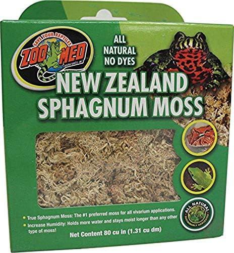 ZooMed CF3NZE New Zealand Sphagnum Moss Natuurlijke TurfmosSubstraat Voor Vochtregulering In Het Terrarium 1x31 l Mosgroen