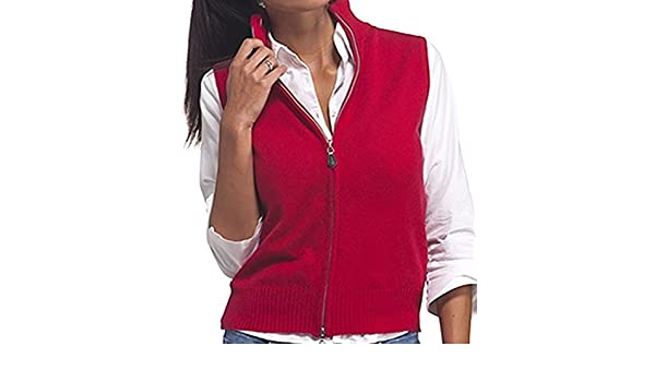 ac56d606aad0c2 Balldiri 100% Cashmere Damen Kurzarm Weste 2-fädig samtrot S: Amazon.ca:  Clothing & Accessories