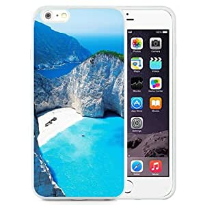 NEW Unique Custom Designed iPhone 6 Plus 5.5 Inch Phone Case With Navagio Shipwreck Beach Smugglers Cove Zakynthos Greece_White Phone Case