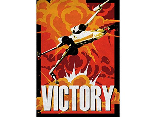 Star Wars Galactic Propaganda Victory Displate Metal Print (製造元:Displate) [並行輸入品] B07BGBJKMP