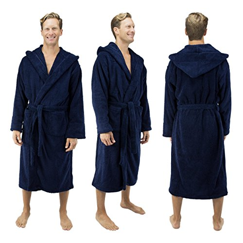 8d3eab4636770 Comfy Robes Men s Deluxe 20 oz. Turkish Cotton Hooded Bathrobe