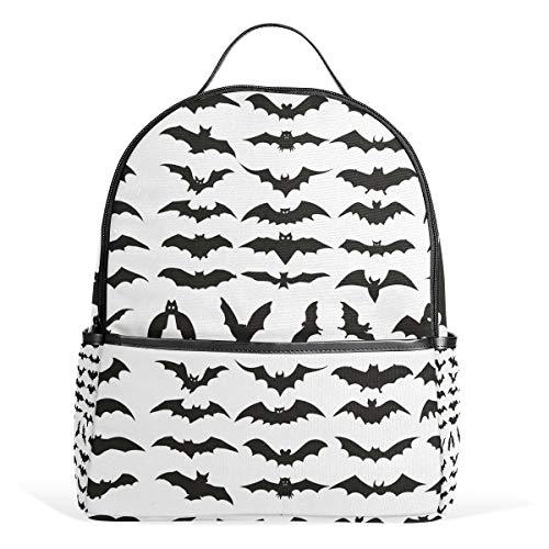 MUOOUM Halloween Bat Clip Art Backpack Casual Daypack