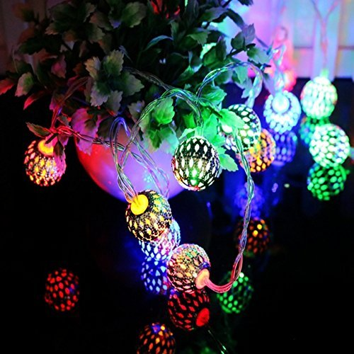 Buy Elecatrons Metal Ball Multicolor Led Serial Lights For Diwali Balcony Home Decoration Lights Birthday Indoor Outdoor Wall Hanging String Lights Online At Low Prices In India Amazon In