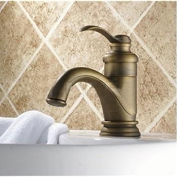 European style single handle centerset bathroom mixer - Antique brass bathroom faucet centerset ...