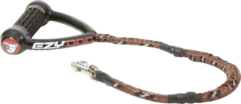 Chocolate 25-Inch Chocolate 25-Inch EzyDog Cujo Shock Absorbing Bungee Dog Leash Best Dog Rope Training Lead Reflective Trim for Nighttime Safety Padded Pull Handle for Superior Comfort and Control (25 , Chocolate)