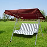 New Deluxe Outdoor Swing Canopy Replacement Porch Top Cover Seat Patio Brown (77″x43″) Review