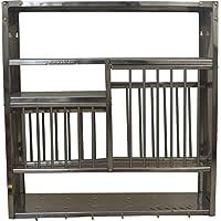 ROYAL SHAPPIRE Stainless Steel Dish Drying Rack, Utensil Holder, Plates Organizer Drainer, Dish Strainer for Counter