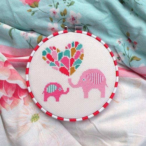 Amazon com: Elephant Cross Stitch Pattern - Chart Only: Handmade