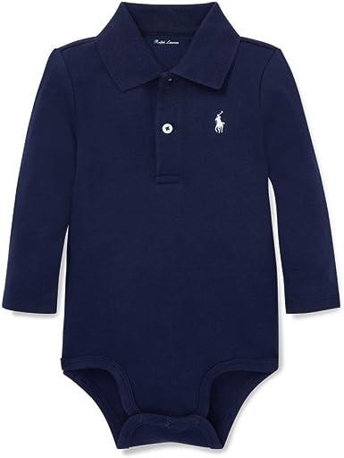 New Baby Boys Ralph Lauren Long Sleeves Body Suit//Romper 6 Months