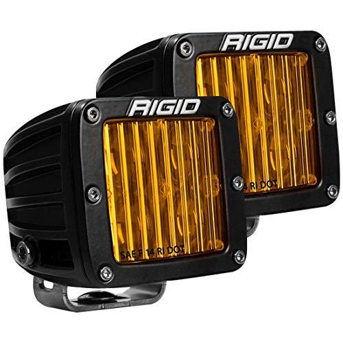 RIGID D-SERIES PRO DOT/SAE J583 FOG LIGHT SELECTIVE YELLOW SURFACE MOUNT | PAIR (set of 2), 504814
