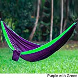 Easily fits into a backpack - perfect to bring along on camping trips. Available in 10 different color options.Type: HammocksIncludes Carry BagAssembly: Assembly RequiredCamping Chair Style: HangingExact Color: Blue, Grey, Green, Purple, Army Green/B...
