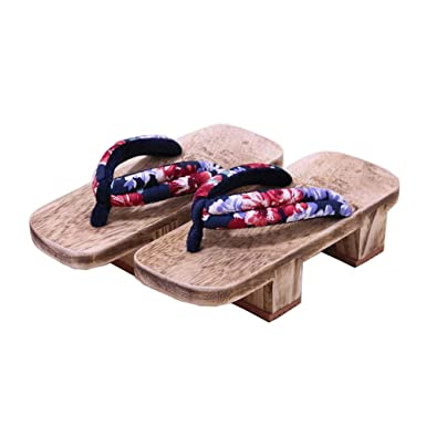 Amazoncom Japanese Traditional Shoes Cosplay Slippers Wooden Clog