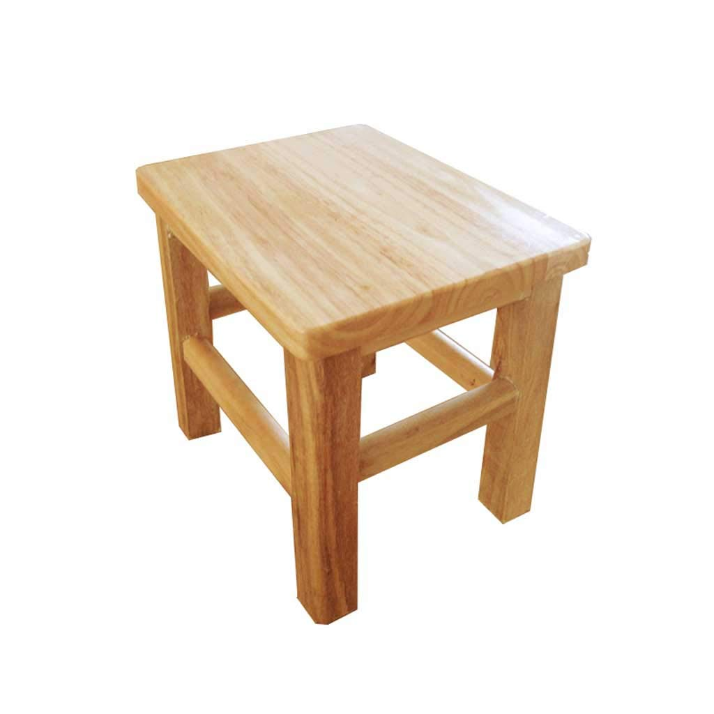 ch-AIR Reinforced Stool Oak Stool Solid Wood Stool Small Square Stool Wooden Stool Stool Home Bench Solid Wood Stool 0522A