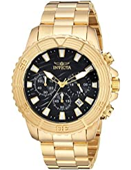 Invicta Mens Pro Diver Quartz Stainless Steel Casual Watch, Color:Gold-Toned (Model: 24000)