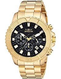 Men's 'Pro Diver' Quartz Stainless Steel Casual Watch, Color:Gold-Toned (Model: 24000)