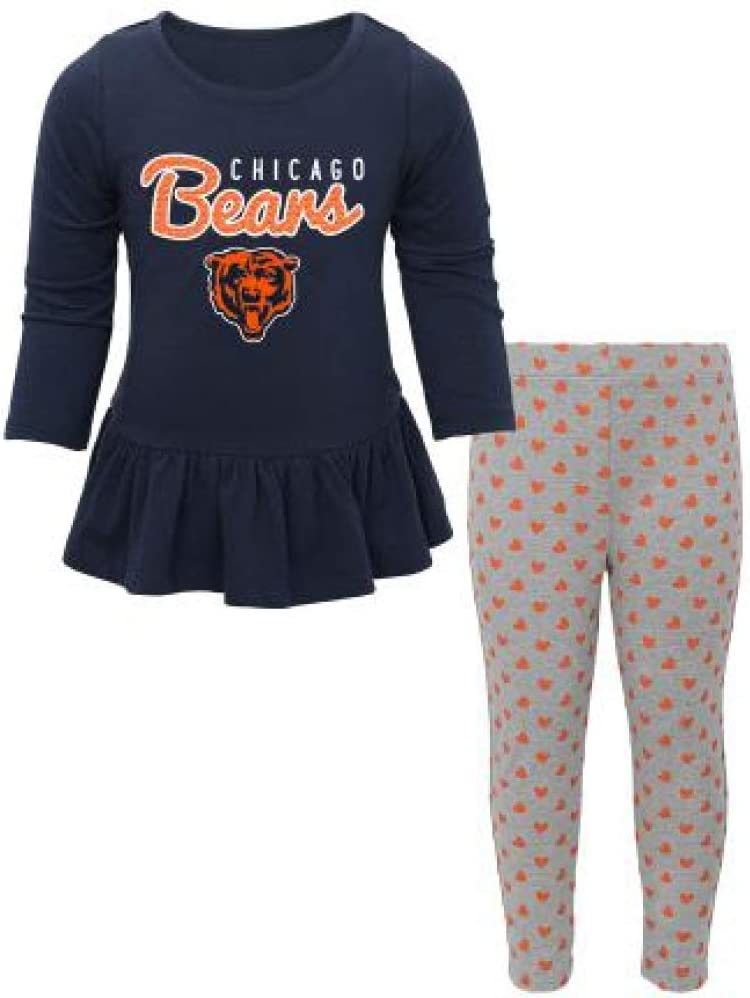 OuterStuff NFL Toddler Girls Tiny Trainer Long Sleeve Shirt /& Pants Set