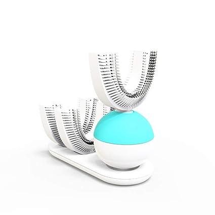SUNLMG automático eléctrico en Forma de U Perezoso Cepillo de Dientes automático Sonic Cepillado 360 Grado