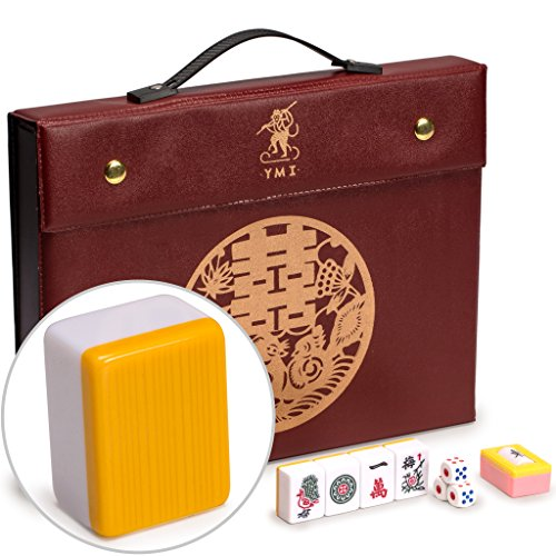 Chinese Mahjong (Professional Chinese Mahjong Game Set with Case,