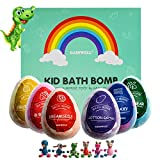 GAINWELL Hatchimal KIDS Bath Bomb Gift Set –XL SIZE(6 x 5 Oz) – Handmade Essential Oil Spa Galaxy Bomb Fizzies with Hand Painted Wooden Toys– for Relaxation, Moisturizing and Fun for All Ages