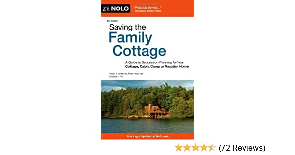 Amazon Com Saving The Family Cottage A Guide To Succession
