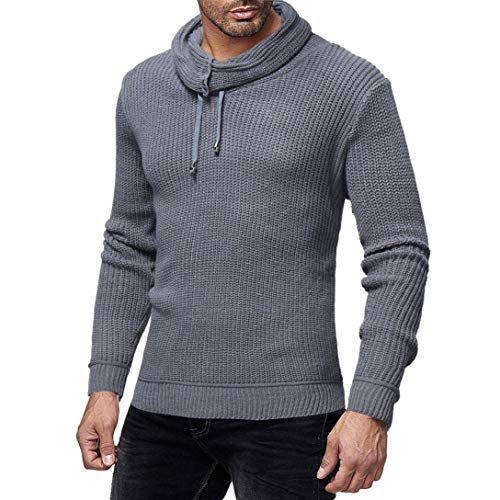 Sunhusing Fashion Mens Casual Round Neck Turtleneck Knitted Color Sweater Top Slim Pullover by Sunhusing