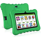 "7"" Kids Tablets, Android 7.1 RK3126C Quad Core, Ainol Q88 Kids Education Tablet with 1GB ROM+8GB RAM, Dual 0.3MP Cam,Portable Kid-Proof Shock-Proof Silicone Case for Kids Tablet PC(1GB, Green)"