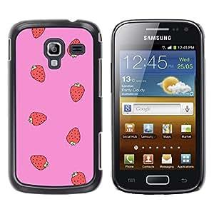 YOYOYO Smartphone Protección Defender Duro Negro Funda Imagen Diseño Carcasa Tapa Case Skin Cover Para Samsung Galaxy Ace 2 I8160 Ace II X S7560M - rosa fresa roja patrón de verano