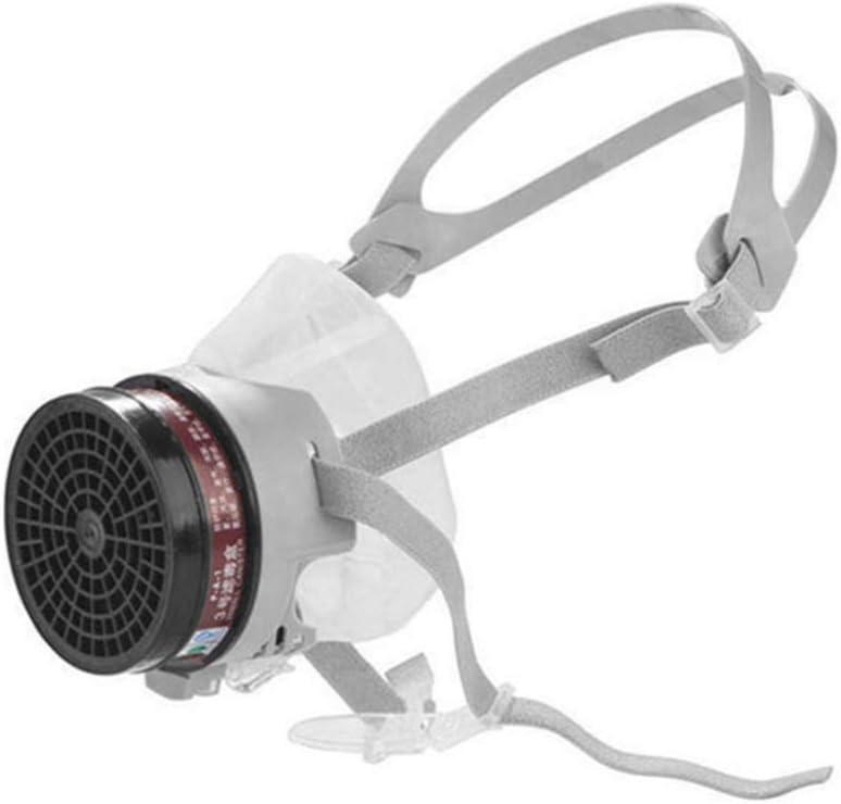 Milisten Profesional de Gel de Sílice Antipolvo a Prueba de Polvo Pm2.5 Media Cara Máscara de Smog