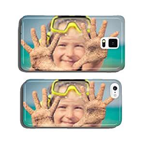 Happy child on the beach cell phone cover case Samsung S6