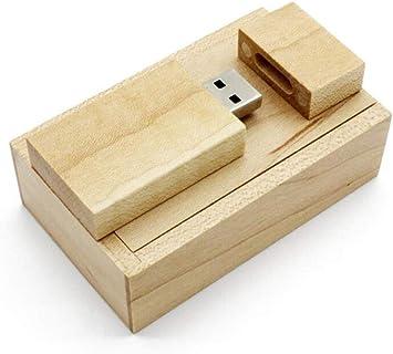 ToomLight USB Flash Drive de Madera + Caja Pendrive 4GB 8GB 16GB ...