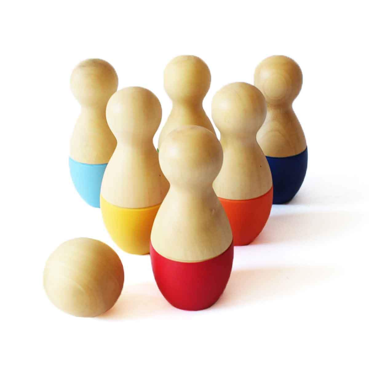 Shumee Wooden Roly Bowly Pins Toy Set (2 Years+) - Entertainment & Learning product image