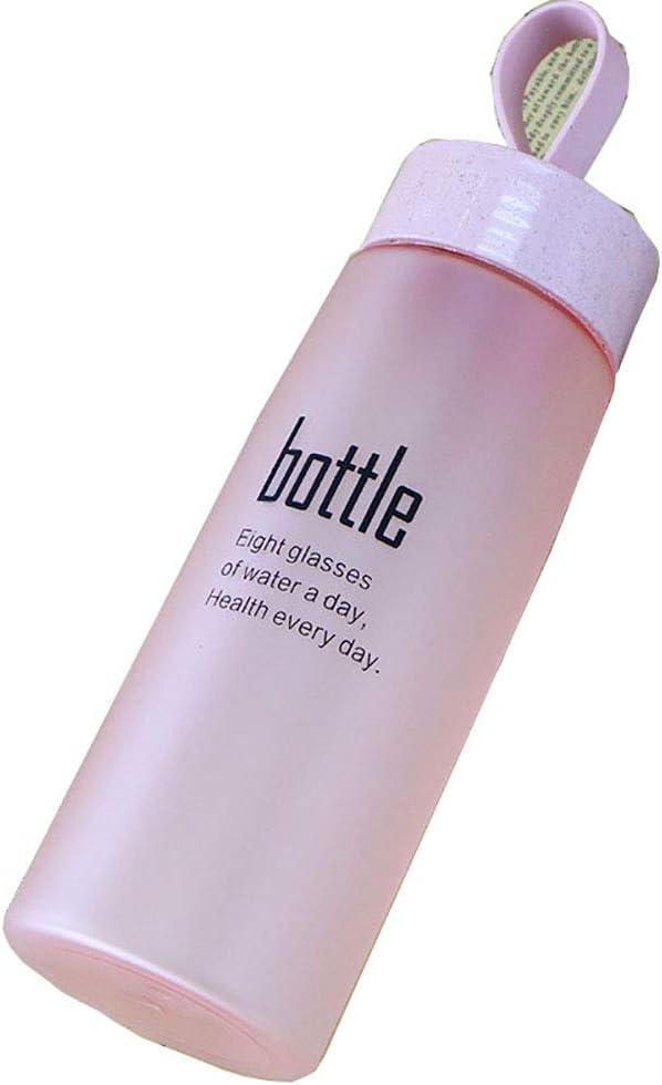 CHUANG TIAN Botella de Agua Deportiva de 520 ml, a Prueba de Fugas, sin BPA y Reutilizable para el Medio Ambiente - para Correr/al Aire Libre/Senderismo/Camping/Gimnasio,Pink