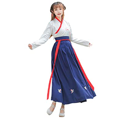 Ez-sofei Women s Ancient Chinese Traditional Hanfu Dress Cosplay Costume Set  (S 721a96642