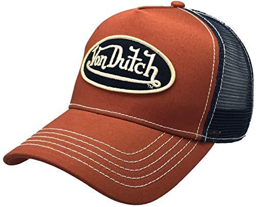 Von Dutch,VDHT100, Trucker Hat with Logo Patch Baseball Hat Brown
