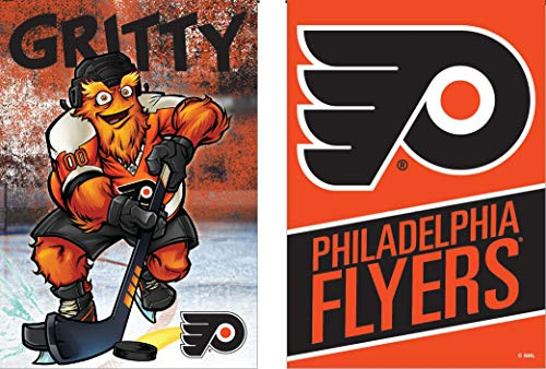 (WinCraft NHL Philadelphia Flyers Gritty The Mascot Garden Flag Two Sided 12.5 x 18 inches)