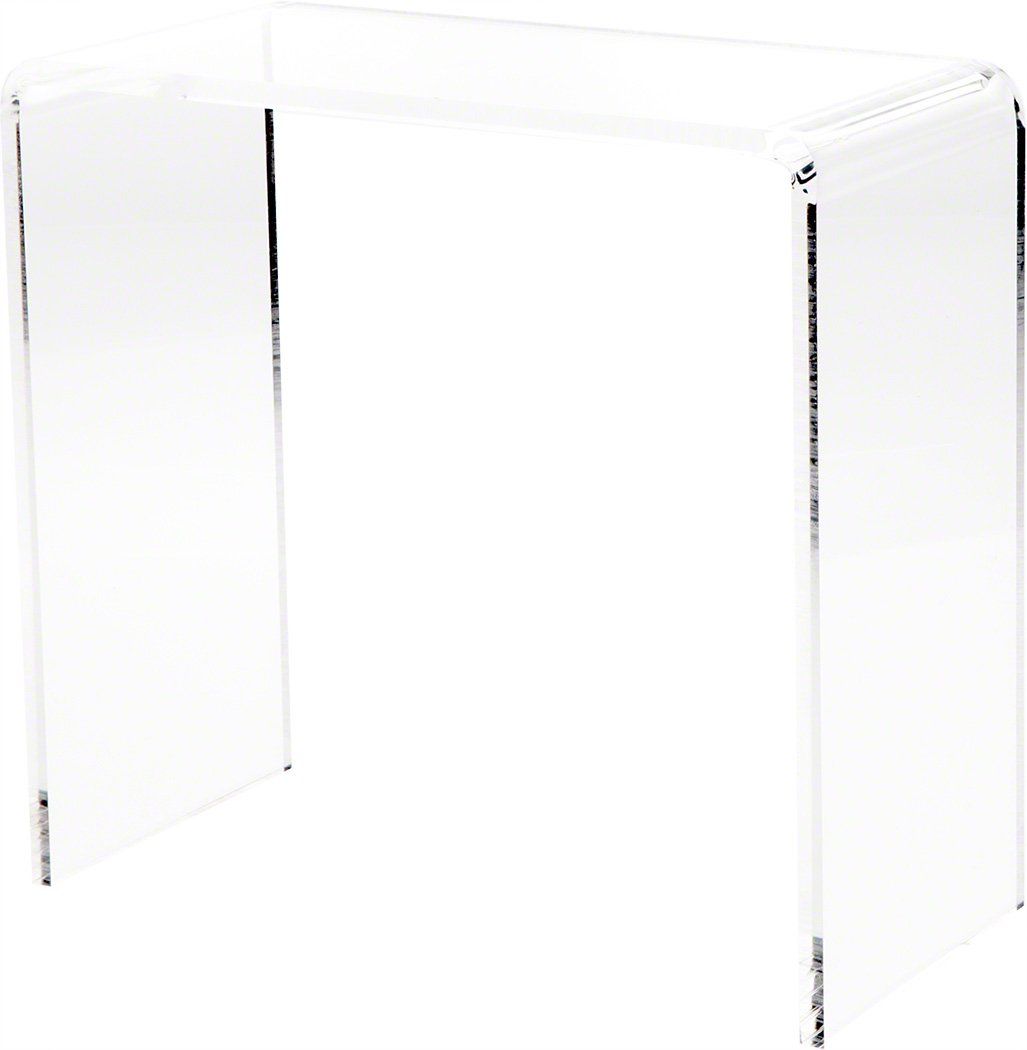 Plymor Clear Acrylic Vertical Rectangular Display Riser, 10 H x 10 W x 5 D 3 8 Thick