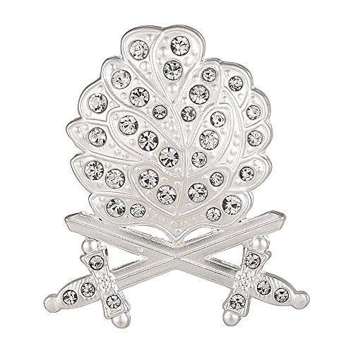 Gudeke German WH Oak Leaf Swords Diamonds Knights Silver Pin Badge Copy (Oak Leaves Pin)