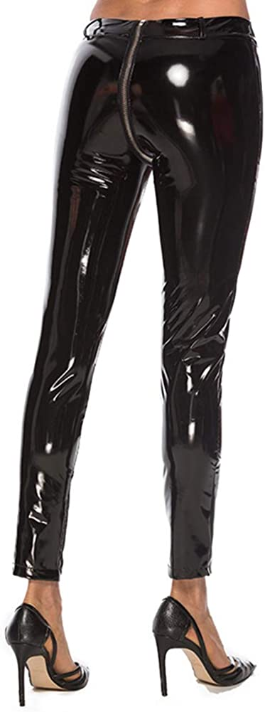 WOMENS PLUS WET LOOK  BLACK LEGGINGS PANTS UK SIZE 20 22 24 26 28 XL 2XL 3XL