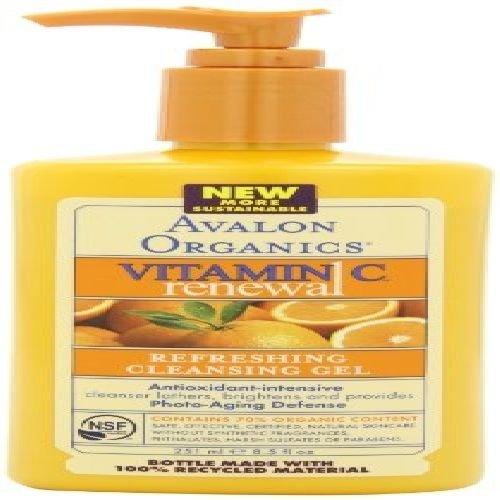 Sanweller(TM) Avalon Organics Vitamin C Renewal Refreshing Cleansing Gel, 8.5 Ounce Bottle New