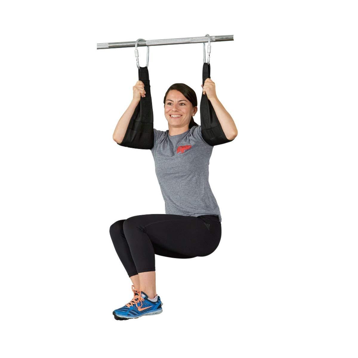 Flytool Ab Straps Core Exercise Equipment Training Gym Abdominal Hanging Straps, Black by Flytool (Image #8)