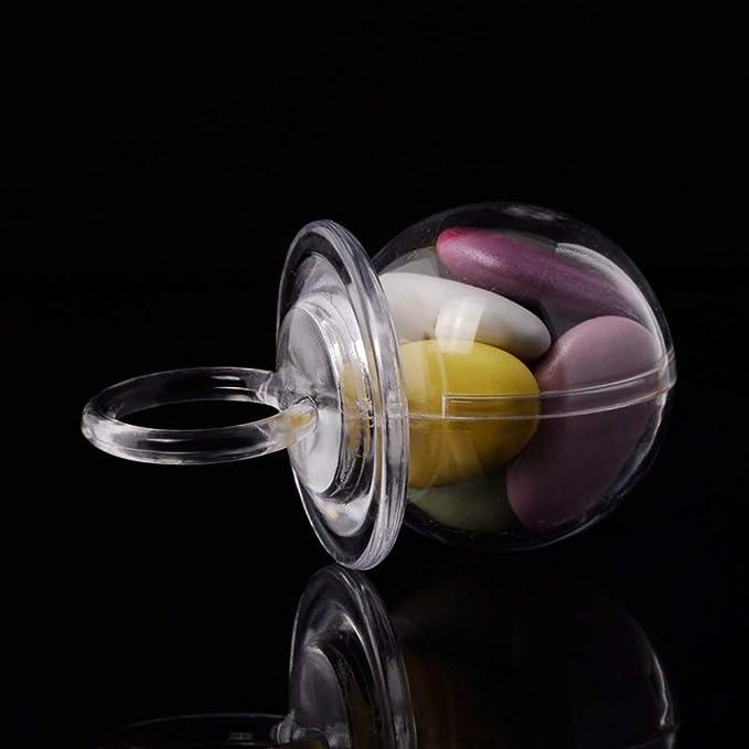 BESTonZON 24 Piezas de plástico Transparente Caja de Dulces ...