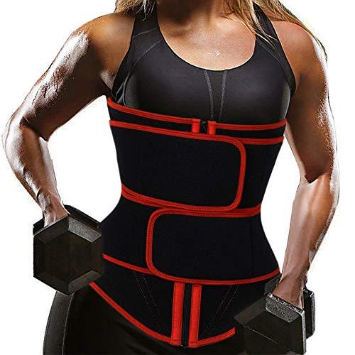 ROSAMOUR Neoprene Sweat Waist Trainer Corset Trimmer Belt for Women Weight Loss, Waist Cincher Shaper Slimmer Body…