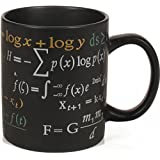 Math Mug - 12 oz. Coffee Mug Featuring Famous Mathematical Formulas