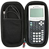 Khanka Hard Travel Carrying EVA Storage Case Bag For Texas Instruments TI-84 Plus Graphics Calculator and More. Fits USB Cable - Black